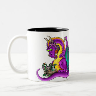 Never Trust Goblins in Dirty Lab Coats Two-Tone Coffee Mug