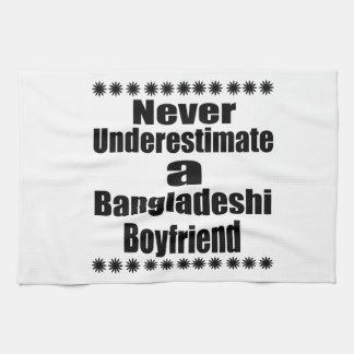 Never Underestimate A Bangladeshi Boyfriend Hand Towels