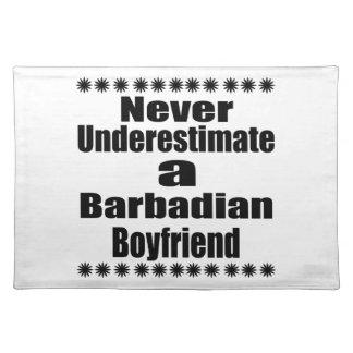 Never Underestimate A Barbadian Boyfriend Place Mats