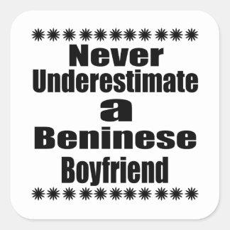 Never Underestimate A Beninese Boyfriend Square Sticker