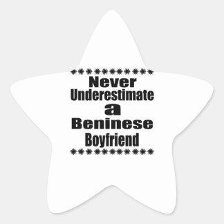 Never Underestimate A Beninese Boyfriend Star Sticker