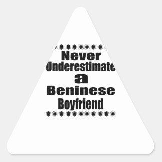 Never Underestimate A Beninese Boyfriend Triangle Sticker