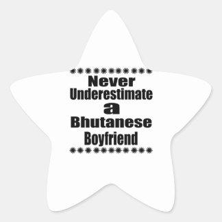 Never Underestimate A Bhutanese Boyfriend Star Sticker