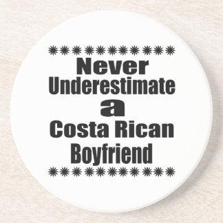 Never Underestimate A Costa Rican Boyfriend Beverage Coaster