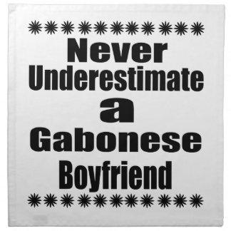 Never Underestimate A Gabonese Boyfriend Napkin