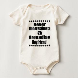 Never Underestimate A Grenadian Boyfriend Baby Bodysuit
