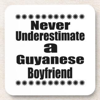 Never Underestimate A Guyanese Boyfriend Drink Coasters