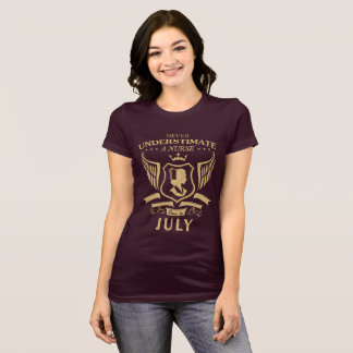 Never Underestimate A Nurse Born In July T-Shirt