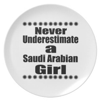 Never Underestimate A Saudi Arabian Girlfriend Party Plates