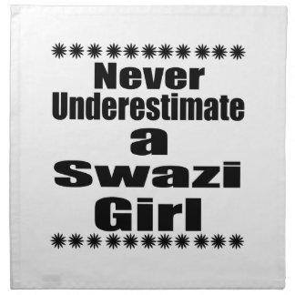 Never Underestimate A Swazi Girlfriend Napkin