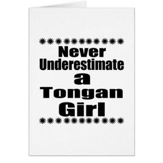 Never Underestimate A Tongan Girlfriend Card