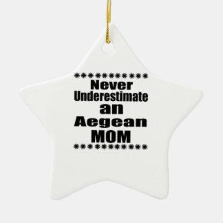 Never Underestimate Aegean Mom Ceramic Ornament