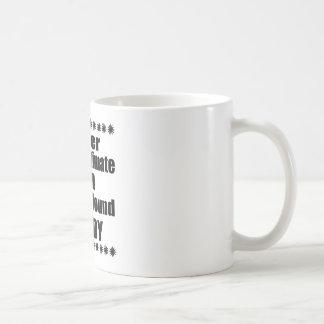 Never Underestimate Afghan Hound Daddy Coffee Mug