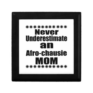 Never Underestimate Afro-chausie Mom Gift Box