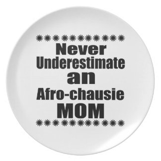 Never Underestimate Afro-chausie Mom Plate
