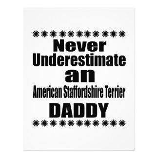Never Underestimate American Staffordshire Terrier Letterhead