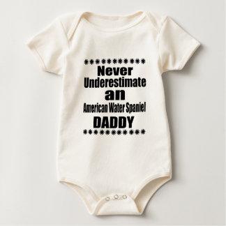 Never Underestimate American Water Spaniel Daddy Baby Bodysuit