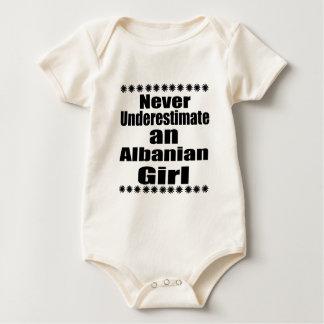 Never Underestimate An Albanian Girl Baby Bodysuit