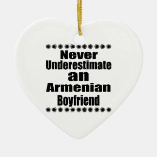 Never Underestimate An Armenian Boyfriend Ceramic Heart Ornament