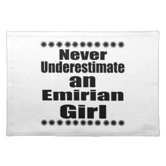 Never Underestimate An Emirian Girl Placemat