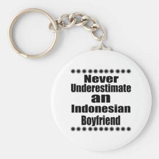 Never Underestimate An Indonesian Boyfriend Basic Round Button Keychain
