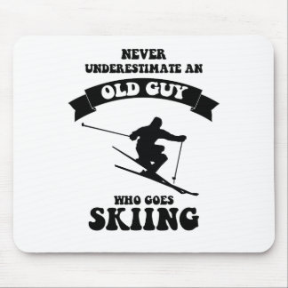 Never underestimate an old guy who goes skiing mouse pad