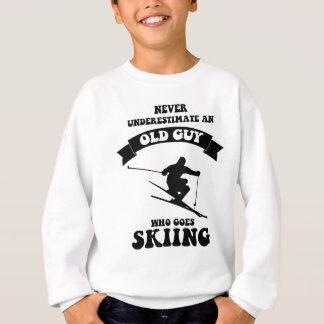 Never underestimate an old guy who goes skiing sweatshirt