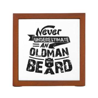 Never Underestimate an OLD MAN With a Beard Desk Organizer
