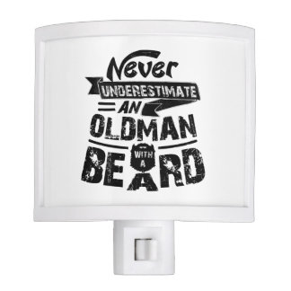 Never Underestimate an OLD MAN With a Beard Night Lites