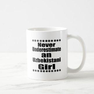 Never Underestimate An Uzbekistani Girl Coffee Mug