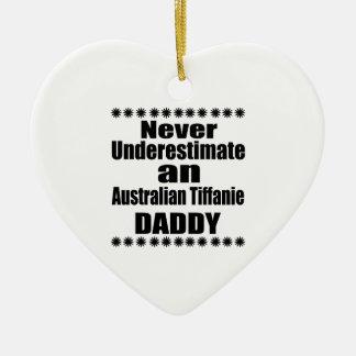 Never Underestimate Australian Tiffanie Daddy Ceramic Ornament