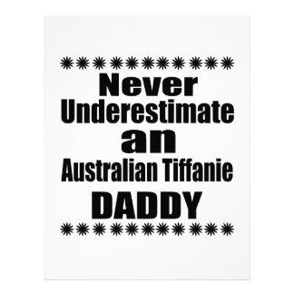 Never Underestimate Australian Tiffanie Daddy Letterhead