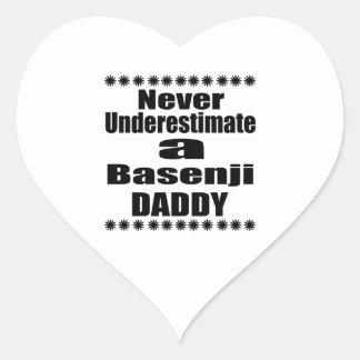 Never Underestimate Basenji  Daddy Heart Sticker