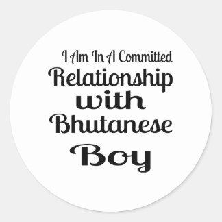 Never Underestimate Bhutanese  Daddy Classic Round Sticker
