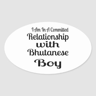 Never Underestimate Bhutanese  Daddy Oval Sticker