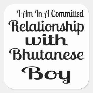 Never Underestimate Bhutanese  Daddy Square Sticker