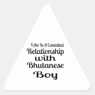 Never Underestimate Bhutanese  Daddy Triangle Sticker