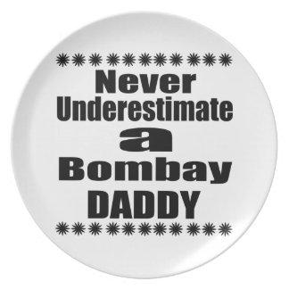 Never Underestimate Bombay  Daddy Plate