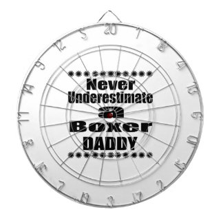 Never Underestimate Boxer Daddy Dartboard