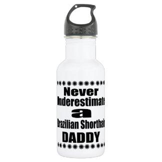 Never Underestimate Brazilian Shorthair Daddy 532 Ml Water Bottle