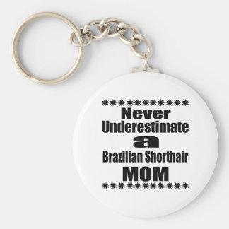 Never Underestimate Brazilian Shorthair Mom Keychain