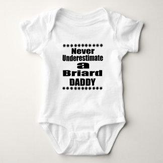 Never Underestimate Briard  Daddy Baby Bodysuit