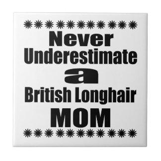 Never Underestimate British Longhair Mom Tile