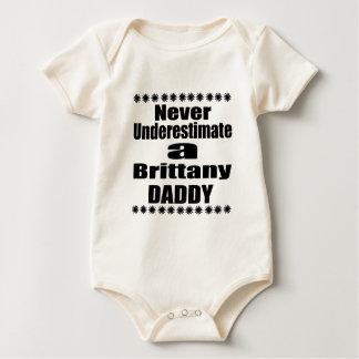 Never Underestimate Brittany Daddy Baby Bodysuit