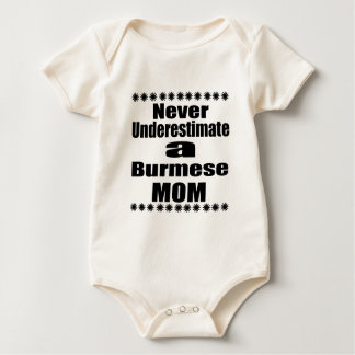 Never Underestimate Burmese Mom Baby Bodysuit