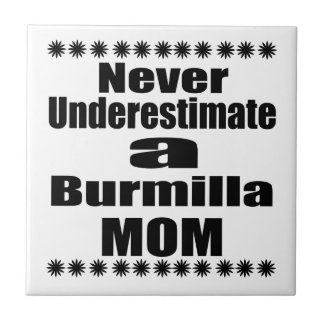 Never Underestimate Burmilla Mom Tile