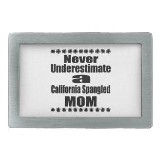 Never Underestimate California Spangled Mom Belt Buckle