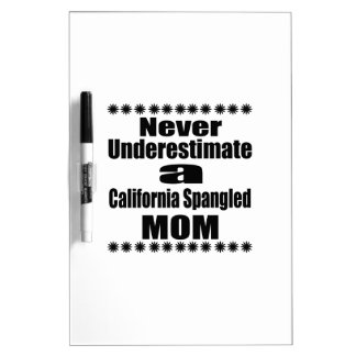Never Underestimate California Spangled Mom Dry Erase Board