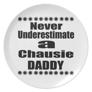 Never Underestimate Chausie  Daddy Plate