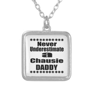 Never Underestimate Chausie  Daddy Silver Plated Necklace